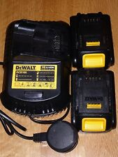 DeWalt DCB105 Li-Ion XR Multi-Voltage Charger 10.8 -18v & 2 x DCB185 BATTERIES.