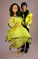 DONNY & MARIE OSMOND DOLLS - 1976 - IN COMPLETE STARLIGHT NIGHT OUTFITS