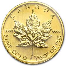 2006 Canada 1/10 oz Gold Maple Leaf BU