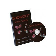 SHOWOFF WITH CARDS DVD OVER 60 MOVES FANS CUTS SHUFFLES CHANGES - MAGIC TRICKS