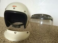 Vtg Bell Toptex Magnum Open Face Motorcycle Helmet -Visor -Face Shield Sz 7 1/2
