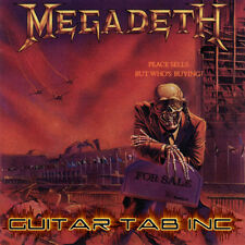 Megadeth Guitar & Bass Tab PEACE SELLS... BUT WHOS BUYING Lessons on Disc