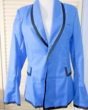 NEW * GANGNAM Style Tuxedo JACKET Costume * BLUE by ROCKET in the WAVE * S