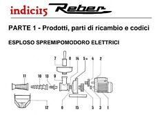 indici15 Corpo Spremipomodoro n°3 Elettrico Ghisa Trattata Ricambi Reber
