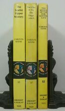 1954~Vintage YELLOW 3 Book Display Lot~Decorative Set~NANCY DREW~CAROLYN KEENE