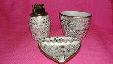 VINTAGE HAEGER U.S.A. - THREE PIECE SMOKING SET- ASH TRAY, LIGHTER, CIG HOLDER
