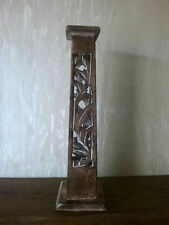 Tall Wooden Tower Incense Stick and cone Burner and Ash Catcher  30cm high