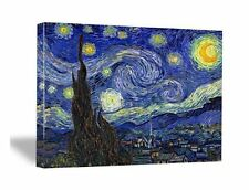 Starry Night by Van Gogh Art Print Reproduction on Canvas Framed Poster Decor