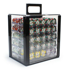 New 1000 Showdown 13.5g Clay Poker Chips Set with Acrylic Case - Pick Chips!