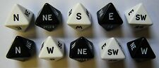 10 Compass Dice Black and White Directions Geography Teaching N S E W Maps NEW