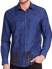 Robert Graham Edinburgh Castle Embroidered Shirt 3XL $298