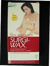 Ardell SURGI WAX HAIR REMOVAL STRIPS FOR BIKINI, BODY, AND LEGS + FINISHING BALM