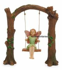 Miniature Fairy Garden Arch Swing MG 126 with Fairy