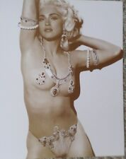 Madonna In a Barely There Bikini Costume Sepia Poster
