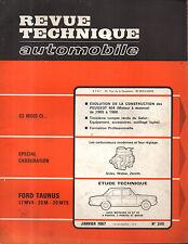 RTA revue technique automobile n° 249 FORD TAUNUS 17MV4 20M 20 MTS 1967