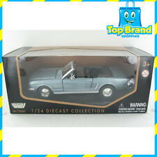 1964 1/2 FORD MUSTANG BLUE DIE-CAST MODEL MOTORMAX CAR BRAND NEW 1:24 scale
