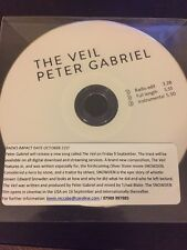 PETER GABRIEL 'GENESIS' 'THE VEIL' BRAND NEW OFFICIAL 3 TRACK UPFRONT CD PROMO
