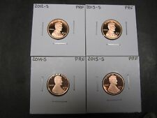 2012 S -2013 S - 2014 S - 2015 S- 2016 S Proof  Lincoln Union Shield Penny/ Cent
