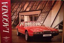 Aston Martin Lagonda Factory Car Poster Extremely Rare!