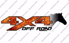 4x4 Off Road FIRE Forest Horse Head TRUCK Decal/Sticker CHEVY GMC FORD DODGE