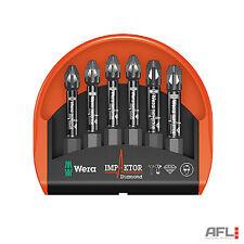 6 PEZZI Wera Bit-Check 6 Impaktor 1 Pozi POZIDRIVE Cacciavite Set - 057692