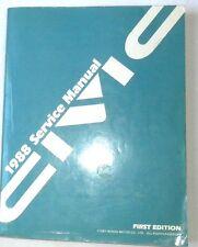 1988 HONDA CIVIC SERVICE REPAIR MANUAL