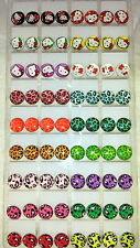 Joblot of 36 Pairs mixed colour round 10mm  stud Earrings - New wholesale2