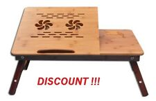 Wooden Laptop e table Multipurpose For Study Reading Bed Portable Breakfast