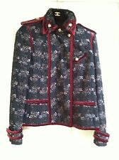 Chanel 09A NEW PARIS- MOSCOW Tweed Velvet Satin Multicolor Jacket FR46-44 $8K