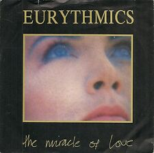"45 TOURS / 7"" SINGLE--EURYTHMICS--THE MIRACLE OF LOVE / WHEN TOMORROW COMES-1986"