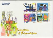 Faroe Islands 2000 Children's Paintings, Stampin the Future, First Day Cover