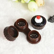 Portable Cake Cream Cartoon Travel Contact Lens Case Box Set Container Holder