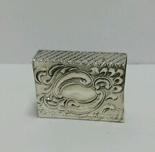 NEW Solid Silver Sterling 925 Match Box Holder  Judaica Shabbat