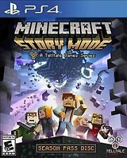 Minecraft: Story Mode Season Pass Disc (Sony PlayStation 4, 2015) Mint Condition