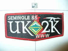 OA Seminole Lodge 85,S31,2000 UK Y2K England National Jamboree,Venturing Flap,FL
