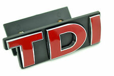 TDI Front Red Auto Emblem for VW Golf Passat Touareg TDI Grill Grille Car Badge