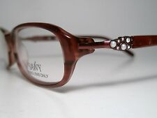 "New Ladies SAVVY ""338"" Sun/ Eyeglasses Frame Burgandy 52-15 Small List $165"