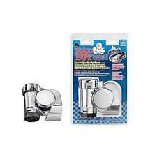 WOLO 519 Bad Boy Chrome Compact Air Horn; 12-Volt; 123.5 Decibels; 530/380 Hz