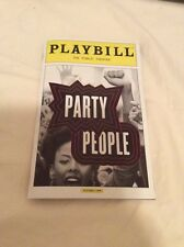 PARTY PEOPLE MUSICAL PLAYBILL NEW YORK CITY THE PUBLIC THEATER 2016