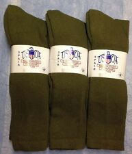 6pr Men's US Army Military Issue Anti-Fungal OTC Boot Socks OD GREEN 9-11 MED