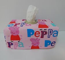 Peppa Pig Tissue Box Cover With Circle Opening - Lovely Gift Idea Nursery Home