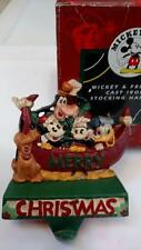 MIDWEST Cast Iron Disney MICKEY & FRIENDS Xmas STOCKING HOLDER Hanger in BOX #B