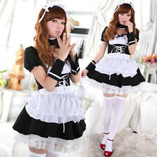 Lolita Maid Dress Cosplay Anime Maid  Role-playing Outfit Uniform Temptation