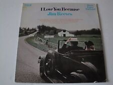 I LOVE YOU BECAUSE JIM REEVES VINYL LP 1976 RECORD PRODUCED BY CHET ATKINS EX