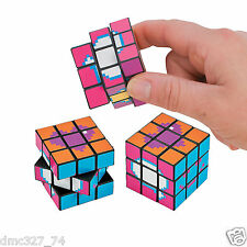 12 TOTALLY AWESOME 1980s 80s Party Favors MINI MAGIC DIGICUBE Puzzle Cube Toy