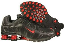 MENS NIKE SHOX BLACK & RED RUNNING SNEAKERS SIZE 10 PRE-OWNED