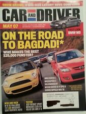 Car and Driver May 2007 BMW M3 Mini Cooper S Mazda Speed 3 Volkswagen GTI Jeep