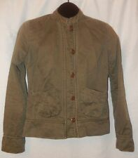 RVCA Military Green with Pink Lining Button Down Light Cotton Jacket Size M