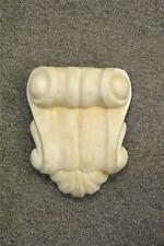 Antique Cream Carved Marble Architectual Pediment