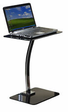 NUOVO VETRO NERO LAPTOP STAND TABLE Home Office Furniture SCRIVANIA Apple MacBook dell